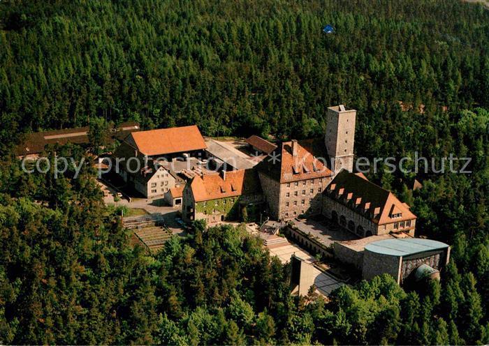 AK / Ansichtskarte Ebermannstadt Jugendhaus Burg Feuerstein Fliegeraufnahme Kat. Ebermannstadt