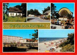 AK / Ansichtskarte Zempin Fischerhaus Campingplatz Konzertplatz Ferienheim Strand Kat. Zempin