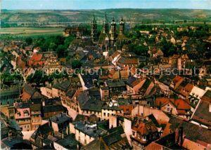 AK / Ansichtskarte Naumburg Saale Stadtbild mit Dom Fliegeraufnahme Kat. Naumburg