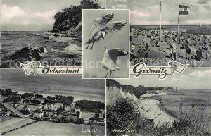 AK / Ansichtskarte Groemitz Ostseebad Hohes Ufer Promenade Strand Fliegeraufnahme Hohes Ufer Kat. Groemitz
