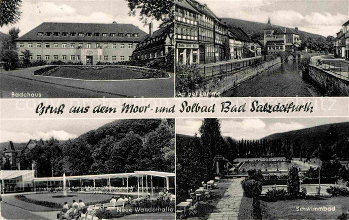 AK / Ansichtskarte Bad Salzdetfurth Badehaus An der Lamme Neue Wandelhalle Schwimmbad Kat. Bad Salzdetfurth