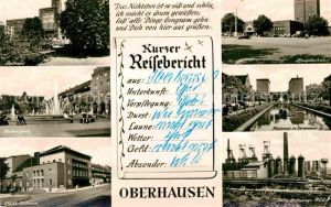 AK / Ansichtskarte Oberhausen Rathaus Friedensplatz Staedt Buehnen Hauptbahnhof Europahaus Gute Hoffnungs Huette  Kat. Oberhausen