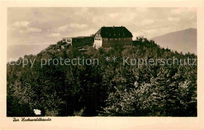 AK / Ansichtskarte Zittau Hochwaldbaude im Zittauer Gebirge Kat. Zittau