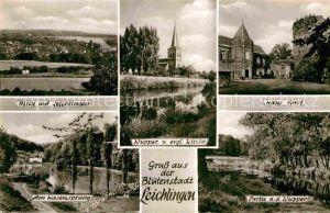 AK / Ansichtskarte Leichlingen Rheinland Panorama Wupper Ev Kirche Haus Vorst Am Hasensprung Wupperpartie Kat. Leichlingen (Rheinland)