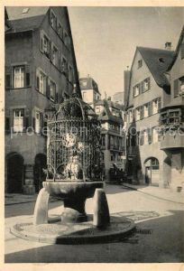 AK / Ansichtskarte Stuttgart Serie K Denkmaeler und Brunnen Hans im Glueck Brunnen Kat. Stuttgart