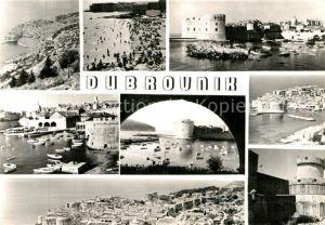 AK / Ansichtskarte Dubrovnik Ragusa Fliegeraufnahme Hafen Strand Kat. Dubrovnik
