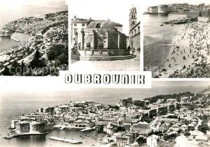 AK / Ansichtskarte Dubrovnik Ragusa Fliegeraufnahme Strand  Kat. Dubrovnik