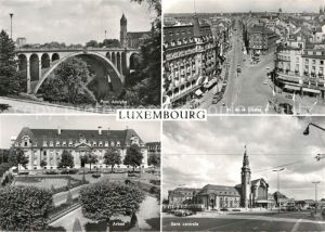 AK / Ansichtskarte Luxembourg Luxemburg Pont Adolphe Av de la Liberte Arbad Gare Kat. Luxembourg