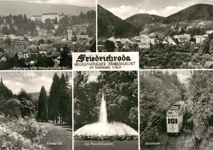 AK / Ansichtskarte Friedrichroda Heim Walter Ulbricht Puschkinpark Waldbahn  Kat. Friedrichroda