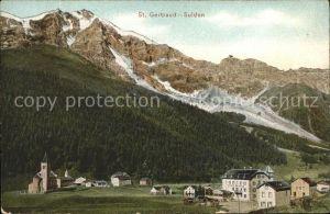 AK / Ansichtskarte St Gertraud Sulden Teilansicht Kat. Sulden Tirol