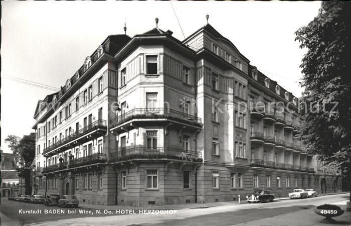 Ak Ansichtskarte Baden Wien Hotel Herzoghof Kat Baden