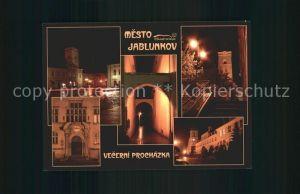 AK / Ansichtskarte Jablunkov Jablunkau Vecerni Prochazka Marianske namesti radnice ulicka kostel klaster Kat. Tschechische Republik