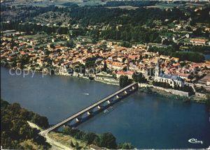 AK / Ansichtskarte Lalinde Vue generale aerienne Pont Eglise Kat. Lalinde