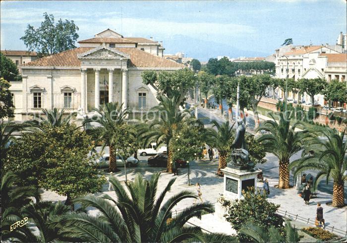 AK / Ansichtskarte Perpignan Palais de Justice ave la Place Arago Kat. Perpignan