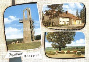 AK / Ansichtskarte Kleinensee Jagdhaus Bodesruh Hotel Restaurant Aussichtsturm Panorama Kat. Heringen (Werra)