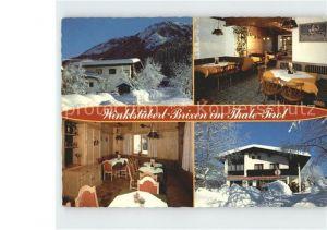 AK / Ansichtskarte Brixen Thale Cafe Restaurant Winklstueberl  Kat. Brixen im Thale