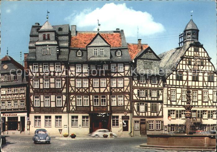 AK / Ansichtskarte Butzbach Marktplatz Rathaus Kat. Butzbach