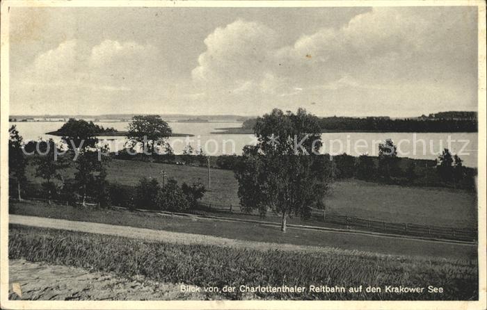 AK / Ansichtskarte Krakow See Blick von Charlottenthaler Reitbahn auf den Krakower See Kat. Krakow See
