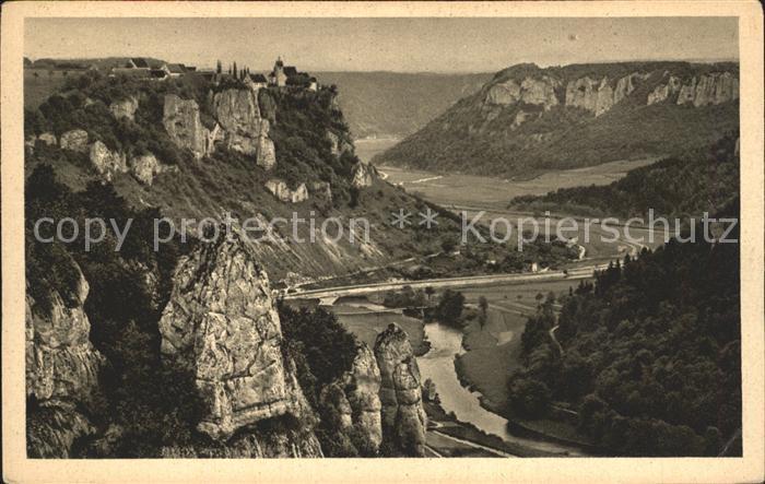 AK / Ansichtskarte Beuron Donautal Oberes Donautal Nr 1495 Blick auf Werenwag Schloss Kat. Beuron