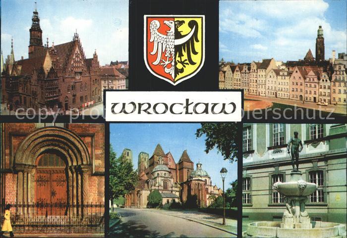 AK / Ansichtskarte Wroclaw Rathaus Portal  Kat. Wroclaw Breslau