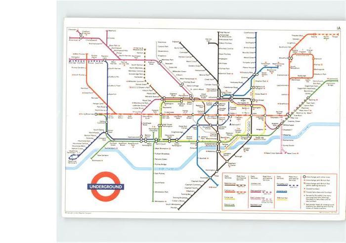 Ak Ansichtskarte U Bahn Subway Underground Metro London