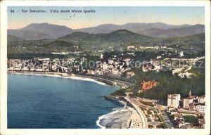 AK / Ansichtskarte San Sebastian Guipuzcoa Vista desde Monte Igueldo