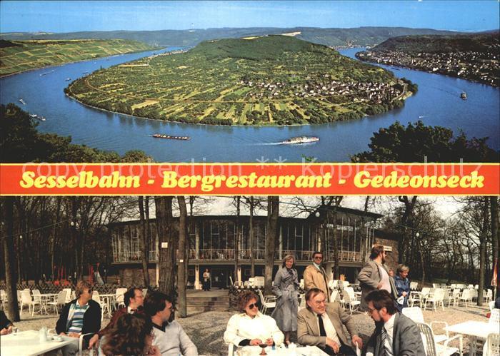 AK / Ansichtskarte Boppard Rhein Sesselbahn Bergrestaurant Gedeonseck  Kat. Boppard