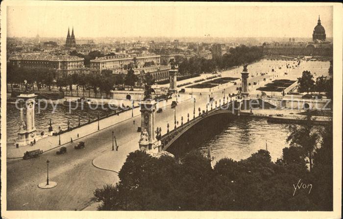 AK / Ansichtskarte Paris Le Pont Alexandre III Kat. Paris