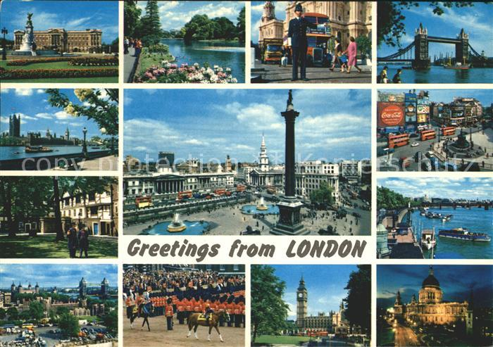 AK / Ansichtskarte London Piccadilly Circus Tower Bridge Tower Bridge Kat. City of London
