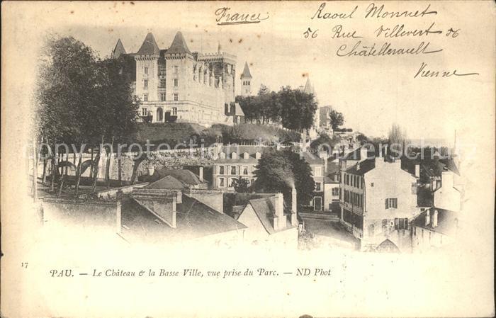 AK / Ansichtskarte Pau Chateau Basse Ville vue prise du Parc Kat. Pau