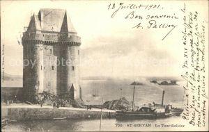 AK / Ansichtskarte Saint Servan Ille et Vilaine Tour Solidor Port Saint Pere Bateau Kat. Saint Malo