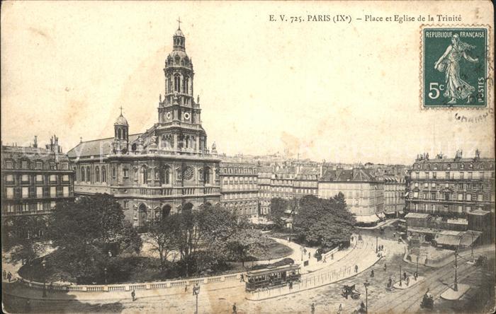 AK / Ansichtskarte Paris Place et Eglise de la Trinite Kat. Paris
