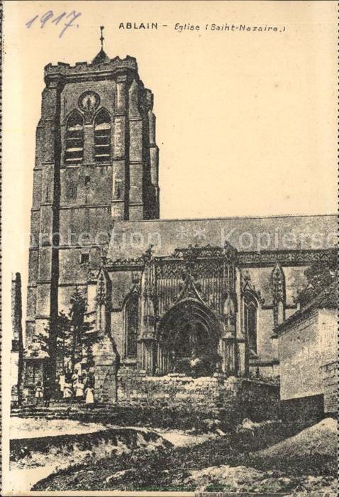 AK / Ansichtskarte Ablain Saint Nazaire Eglise Kat. Ablain Saint Nazaire