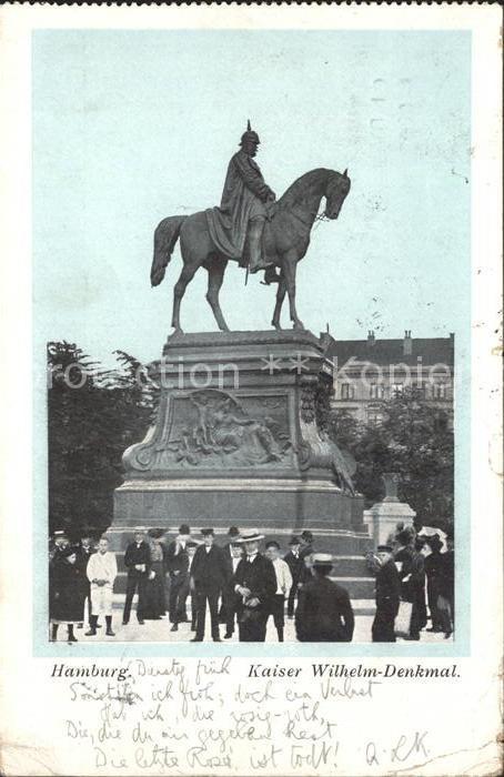 AK / Ansichtskarte Hamburg Kaiser Wilhelm Denkmal Kat. Hamburg