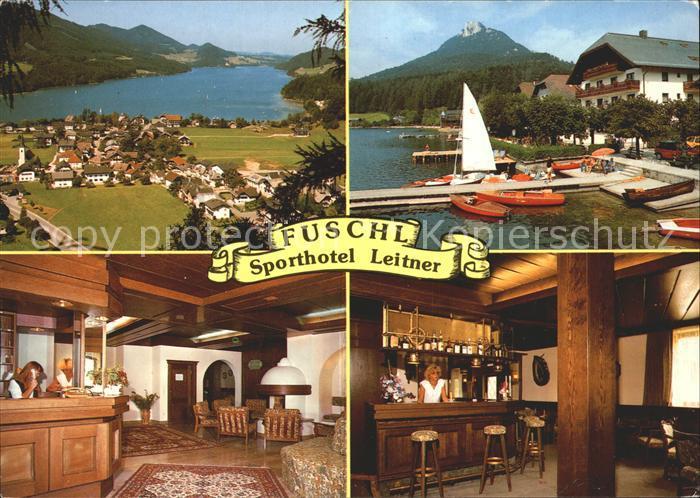 AK / Ansichtskarte Fuschl See Salzkammergut Sporthotel Leitner Rezeption Bar Kat. Fuschl am See