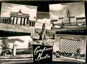 AK / Ansichtskarte Berlin Brandenburger Tor Charlottenburger Schloss Luftbrueckendenkmal Hilton Hotel Kat. Berlin