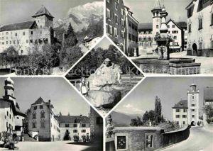 AK / Ansichtskarte Maienfeld Schloss Markt Brunnen Skulptur Kat. Maienfeld