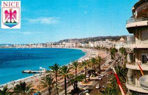 AK / Ansichtskarte Nice Alpes Maritimes Cote ouest de la Promenade des Anglais Plage Cote d Azur Kat. Nice