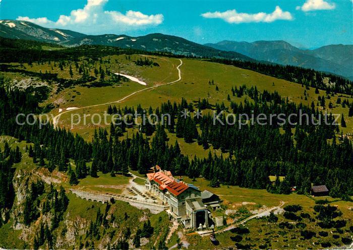 AK / Ansichtskarte Reichenau Rax Raxalpe Bergstation Rax Schneeberg Gruppe Fliegeraufnahme Kat. Reichenau an der Rax