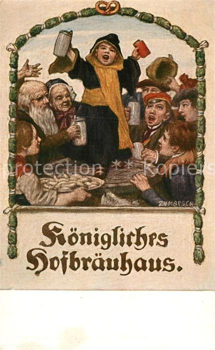 AK / Ansichtskarte Zumbusch L.v. Muenchner Kindl Koenigliches Hofbraeuhaus  Kat. Kuenstlerkarte