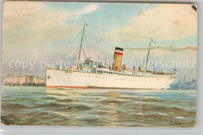 AK / Ansichtskarte Dampfer Oceanliner Turbinen Schnelldampfer Kaiser Hapag Seebaederdienst  Kat. Schiffe