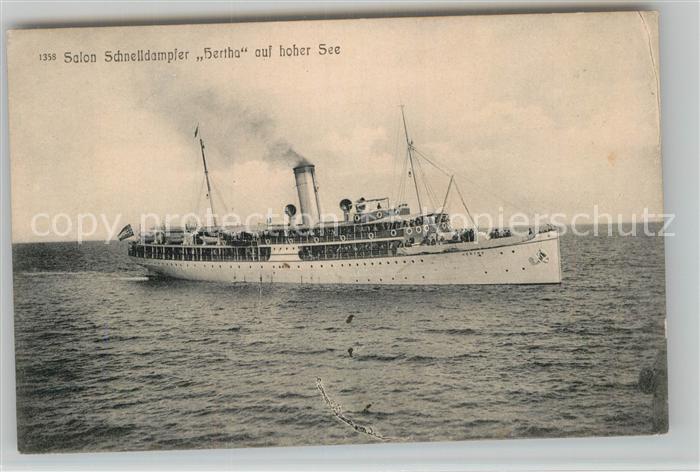 AK / Ansichtskarte Dampfer Oceanliner Salon Schnelldampfer Hertha  Kat. Schiffe