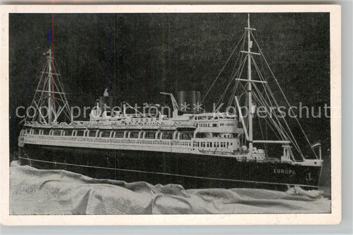 AK / Ansichtskarte Dampfer Oceanliner Vierschrauben Turbinen Schnelldampfer Europa  Kat. Schiffe