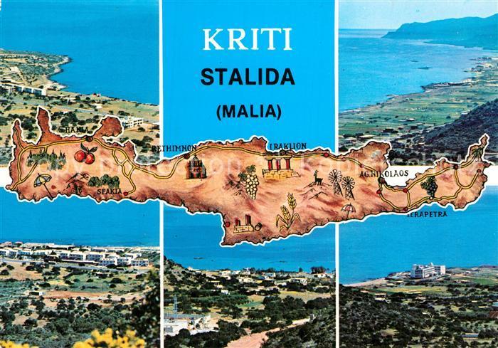 Kreta Karte Stalis.Ak Ansichtskarte Stalida Stalis Fliegeraufnahme Kat Insel Kreta