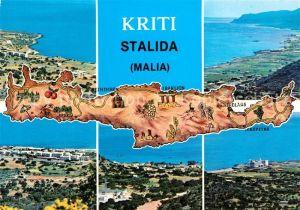 Kreta Karte Stalis.Stalida Stalis Strandpartie Kat Insel Kreta Nr Kt71554