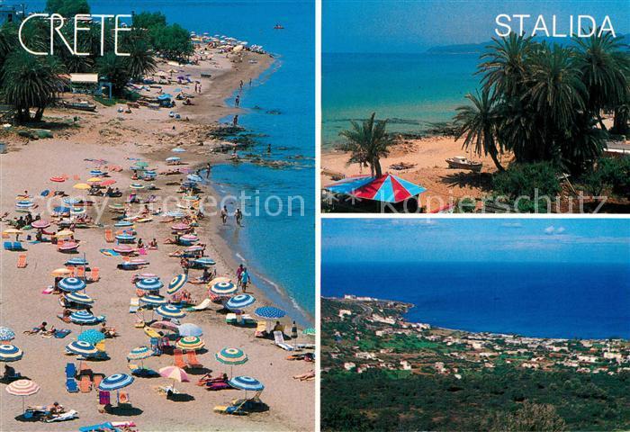 Kreta Karte Stalis.Ak Ansichtskarte Stalida Stalis Fliegeraufnahme Strand Panorama Kat Insel Kreta