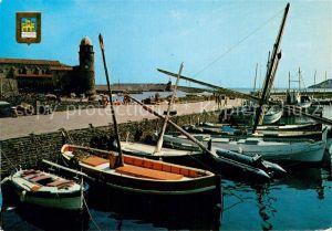AK / Ansichtskarte Collioure Le port et le clocher Kat. Collioure