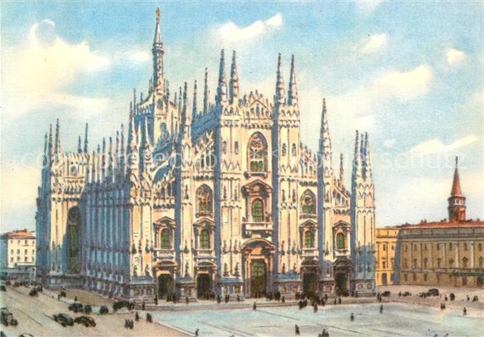 AK / Ansichtskarte Milano Il Duomo Dom Kat. Italien