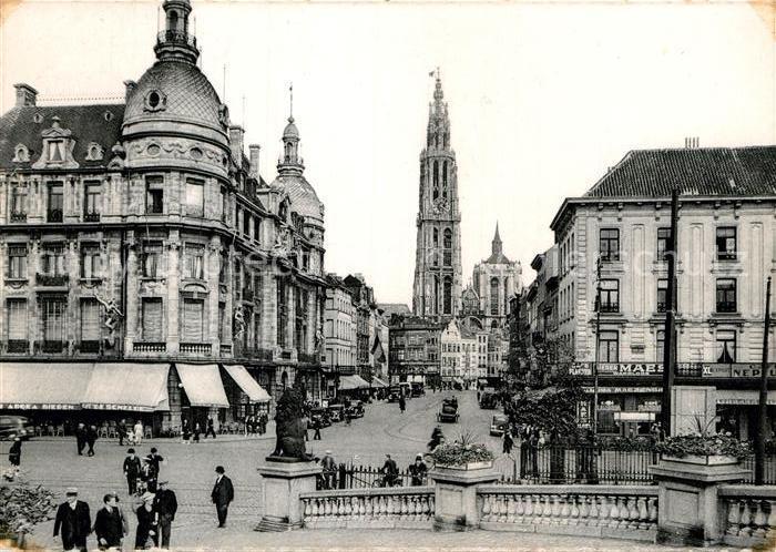 AK / Ansichtskarte Anvers Antwerpen Canal au Sucre Eglise Kat.