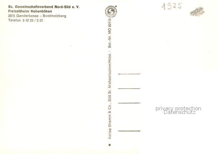 AK / Ansichtskarte Bookholzberg Evangelische Freizeitheim Hohenboeken Kat. Ganderkesee 1